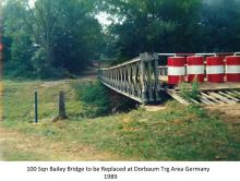 100 Sqn Bailey Bridge to be Replaced at Dorbaum Trg Area Germany