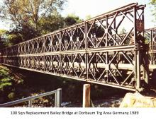 100 Sqn Replacement Bailey Bridge at Dorbaum Trg Area Germany 1989