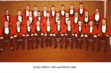 50 Sqn Officers, WOs and SNCOs 1984