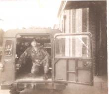 Preping CO's Landrover for exercise circa 1979