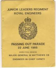 passing out book 22nd june 1984 JLRRE