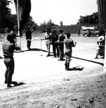 Dr. Hastings Banda Cutting Ribbon for Nyika Road Opening Malawi 1972